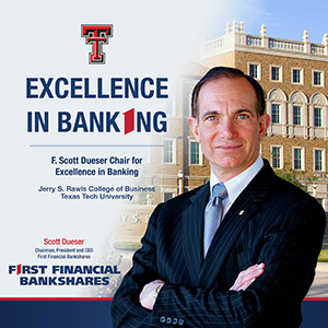 Photo for Excellence in Banking Endowment Named in Honor of F. Scott Dueser